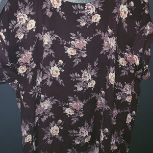 forever21 / purple floral shirt